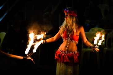 Hula with fire
